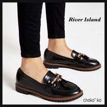 River Island Casual Style Faux Fur Loafer Pumps & Mules