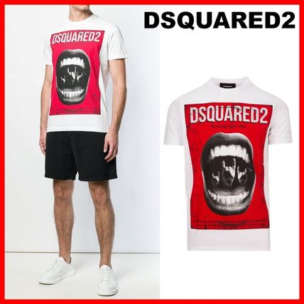 D SQUARED2 More T-Shirts Street Style Cotton Luxury T-Shirts