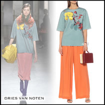 Dries Van Noten Flower Patterns Medium Short Sleeves T-Shirts