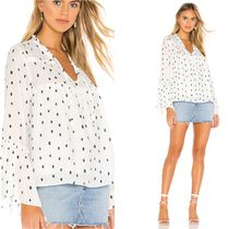 Central Park West Dots Casual Style Long Sleeves Medium Shirts & Blouses