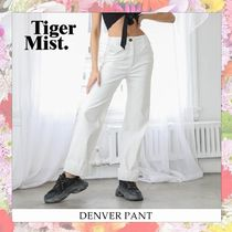 Tiger Mist Casual Style Blended Fabrics Plain Cotton Long Skinny Pants