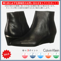 Calvin Klein Casual Style Plain Wedge Boots