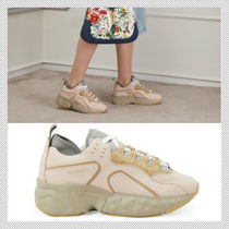 Acne Rubber Sole Casual Style Low-Top Sneakers
