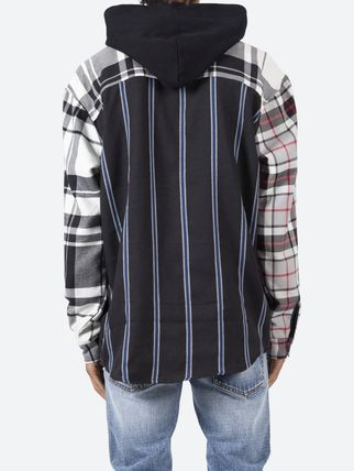 MNML Shirts Stripes Other Plaid Patterns Street Style Long Sleeves 4