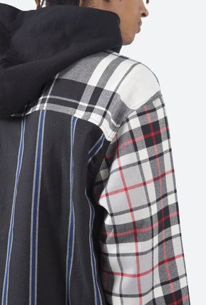 MNML Shirts Stripes Other Plaid Patterns Street Style Long Sleeves 6