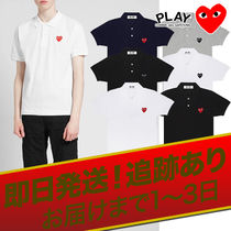 COMME des GARCONS Heart Unisex Street Style Cotton Short Sleeves Oversized