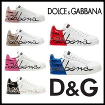 Dolce & Gabbana Casual Style Bi-color Logo Low-Top Sneakers