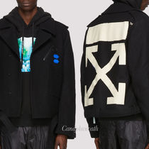 Off-White Peacoats Coats