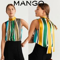 MANGO Stripes Casual Style Sleeveless Medium Tanks & Camisoles
