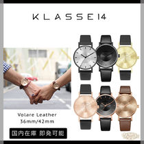 KLASSE14 Unisex Street Style Leather Round Quartz Watches