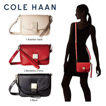 Cole Haan Casual Style Plain Leather Shoulder Bags