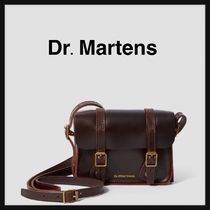 Dr Martens Casual Style Unisex Street Style Plain Leather Shoulder Bags