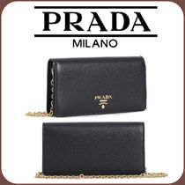 PRADA Leather Logo Party Bags