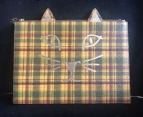Charlotte Olympia Tartan Calfskin Saffiano Other Animal Patterns Clutches