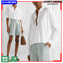 JAMES PERSE Casual Style Street Style Long Sleeves Plain Cotton Long