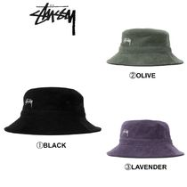 STUSSY Unisex Street Style Wide-brimmed Hats