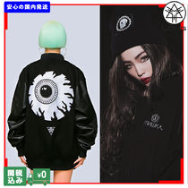 LONG CLOTHING Unisex Street Style Collaboration Varsity Jackets