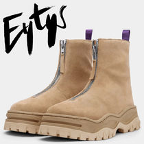 Eytys Unisex Street Style Plain Leather Boots