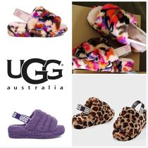 UGG Australia YEAH Leopard Patterns Tropical Patterns Open Toe Casual Style