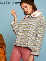 Sister Jane Short Other Check Patterns Wool Peacoats
