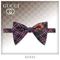 GUCCI Other Check Patterns Unisex Silk Bi-color Ties