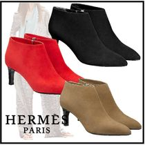 HERMES 2019-20AW SERENA ANKLE BOOT noir red beige
