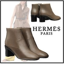 HERMES 2019-20AW SELMA ANKLE BOOT gris galet boots