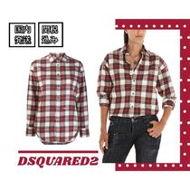 D SQUARED2 Tartan Casual Style Long Sleeves Cotton Shirts & Blouses