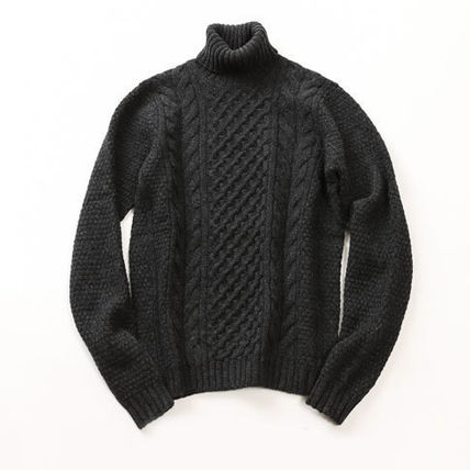 Cable Knit Wool Long Sleeves Sweaters