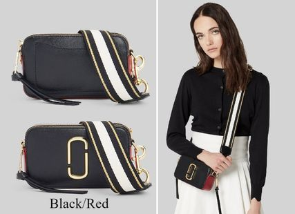 Casual Style Street Style 2WAY Bi-color Leather Crossbody