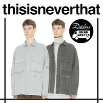 thisisneverthat Other Check Patterns Unisex Street Style Long Sleeves Plain