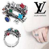 Louis Vuitton Flower Patterns Monogram Unisex With Jewels Rings