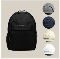 Almost Blue Unisex Street Style A4 Backpacks