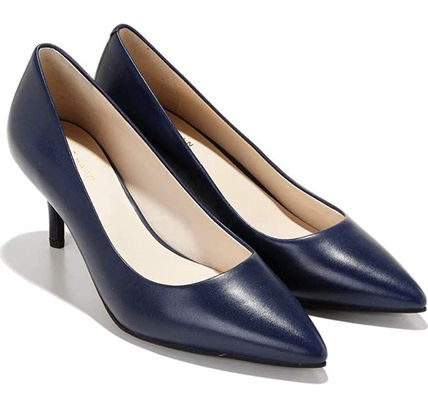 Cole Haan Formal Style  Plain Leather Pin Heels Stiletto Pumps & Mules