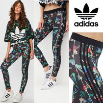 adidas Flower Patterns Street Style Collaboration Leggings Pants