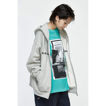 Pullovers Unisex Street Style Long Sleeves Cotton