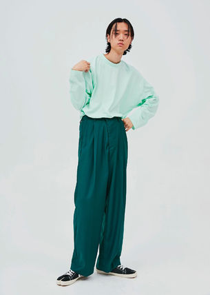 OPEN THE DOOR Street Style Oversized Pants