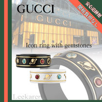 GUCCI Unisex Street Style 18K Gold Rings