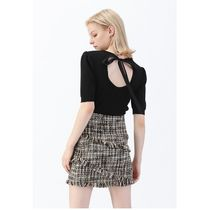 Chicwish Pencil Skirts Short Other Plaid Patterns Tweed Tassel