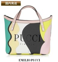 Emilio Pucci Casual Style Canvas Street Style Plain Totes