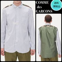 COMME des GARCONS Button-down Camouflage Long Sleeves Plain Cotton Khaki