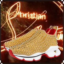 Christian Louboutin Spike Sock Rubber Sole Casual Style Unisex Low-Top Sneakers