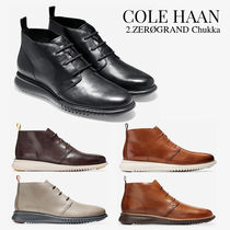 Cole Haan ZEROGRAND Plain Toe Plain Leather Chukkas Boots