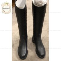 GUCCI Plain Leather Elegant Style Boots Boots
