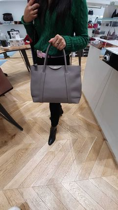 Casual Style A4 Plain Leather Office Style Formal Style