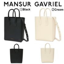 MANSUR GAVRIEL Casual Style Street Style 2WAY Plain Leather Totes