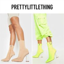 PrettyLittleThing Casual Style Plain Block Heels Ankle & Booties Boots