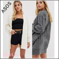 ASOS Cable Knit Casual Style Long Sleeves Plain Knitwear