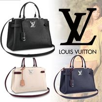 Louis Vuitton LOCKME Monogram Unisex Blended Fabrics 2WAY Shoulder Bags