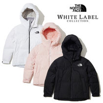 THE NORTH FACE WHITE LABEL Short Fur Street Style Plain Oversized Down Jackets